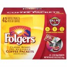 Folgers Classic Roast Coffee Packets, 42-Count NEW
