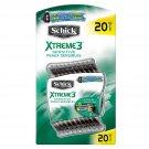 Schick Xtreme3 Sensitive Disposable RazorsTotal of 20 Razors BRAND NEW
