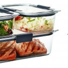 Rubbermaid Brilliance Food Storage Container  BPA-free Plastic 10-piece Set NEW