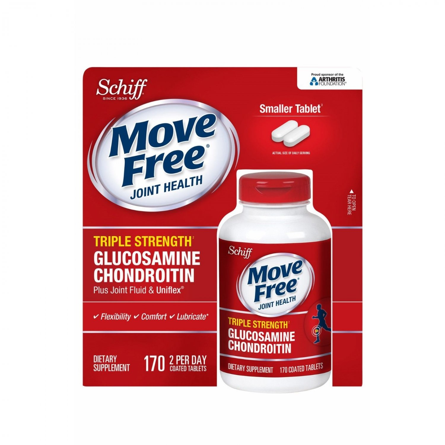 Schiff Move Free Joint Health Triple Strength Dietary Supplement 170 ct