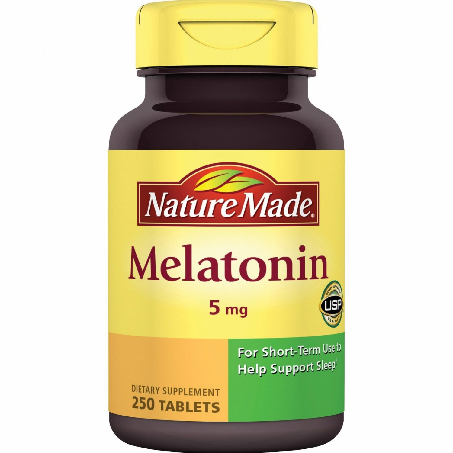 NEW Nature Made Melatonin 5 mg Tablets 250 count
