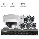 Lorex 8-Channel HD IP NVR with 3TB HDD, 5 4MP Bullet Cameras 1080p Camera NEW