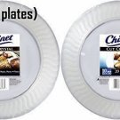 Chinet Cut Crystal Clear Plastic 10 inch Plates 20ct 2 Pack 40 plates total NEW