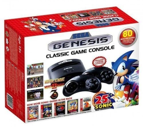 Plug & Play Sega Genesis Classic Game Console w/ 80 Built-In Games NEW