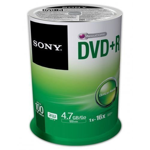 SONY 4.7GB 16X DVD+R 100 Packs Spindle Disc Model 100DPR47SP NEW & SEALED