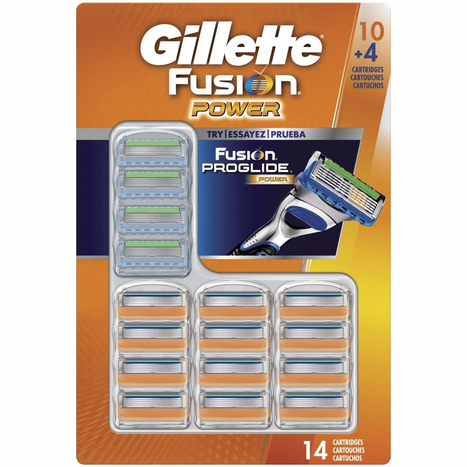 Gillette Fusion Power Razor Blade Refills, 10 ct. Plus Fusion Proglide Power