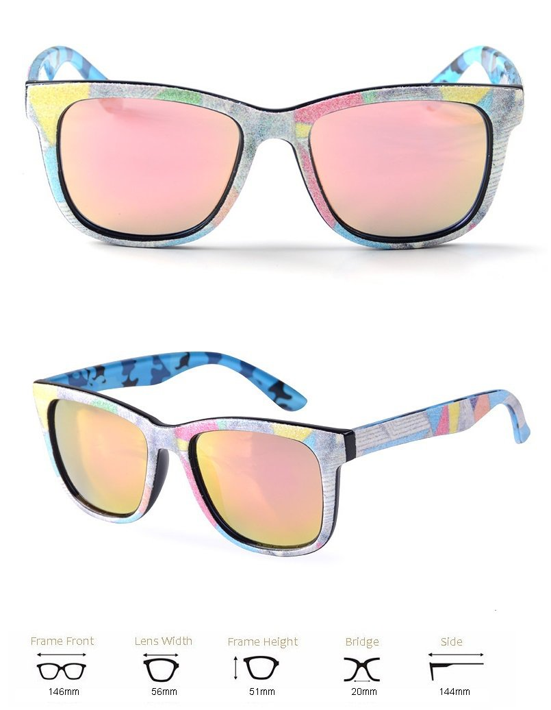 new 2016 sunglasses Pink/gold mirror lens