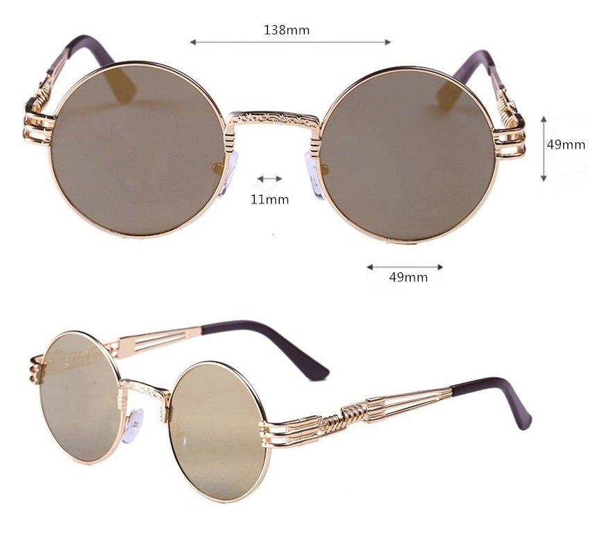 new 2016 round sunglasses Gold Color