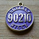 Beverly Hills 90210 Purple Charm Pendant