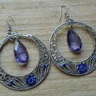 Blue Teardrop Saphire Style Earrings