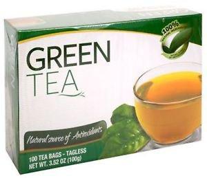 Green Tea Tagless Tea Bags - 100ct