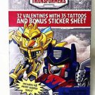 Angry Birds Transformers 32 Valentine Cards with 35 Tattoos Bonus Sticker Sheet