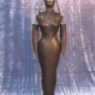 Women Leather Dungeon Vintage Escapology Dress Laced Black Domina Steel Bonned