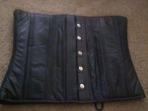 Men's Gay Crosdresser Leather Fetish Corset M/L $69.99