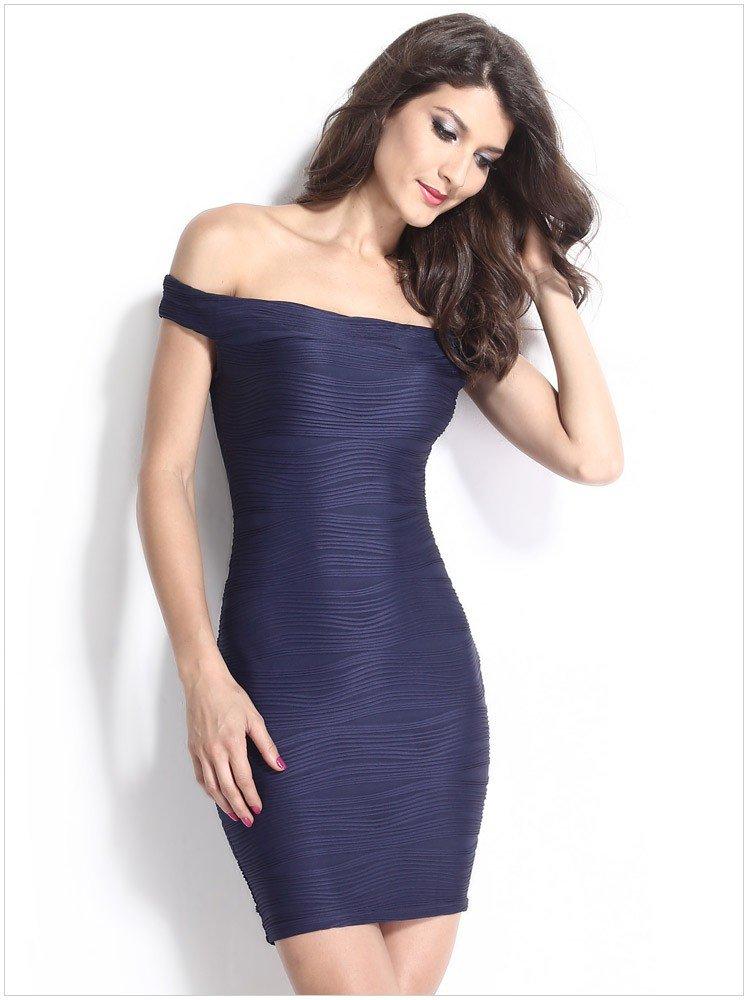 Women Sexy Club Dress 2016 Blue Wrap Party Summer Dress Mini Bandage Body con Dress Club wear ITC368
