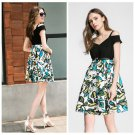 New 2016 Summer Dress Women Floral Print Casual Party Elegant Swing Plus Size ITC370