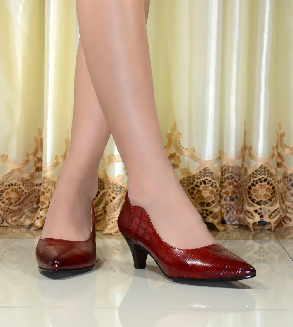 Women Shoes Genuine Leather Pointed Toe High Heels Pumps New 2016 Design Vintage Sexy Office ITC385.