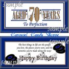 Aged To Perfection Milestone Birthday Candy Wrappers Printable DIY Rock and Roll Music Theme