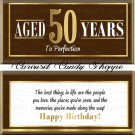 Aged To Perfection Chocolate Brown Gold 50th Birthday Candy Wrappers Printable DIY