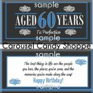Aged To Perfection 60th Birthday Candy Wrappers Printable DIY