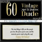 Vintage Dude 60th Birthday Candy Wrappers Printable DIY