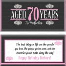 Aged To Perfection 70th Birthday Candy Wrappers Printable DIY