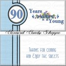 Milestone 90th Birthday Candy Wrappers Printable DIY
