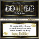 Milestone 100th Birthday Candy Wrappers Printable DIY