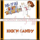 Kickin Karate Girl Birthday Candy Wrappers Printable DIY