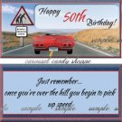 Happy 50th Milestone Birthday Candy Wrappers Printable DIY