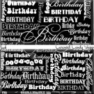 Black Word Art Happy Birthday Candy Wrappers Printable DIY