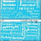 Aqua Blue Word Art Happy Birthday Candy Wrappers Printable DIY