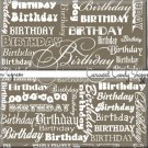 Espresso Brown Word Art Happy Birthday Candy Wrappers Printable DIY