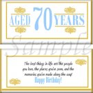 Aged To Perfection Milestone Birthday Candy Wrappers Printable DIY