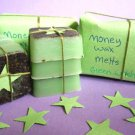 Money spell wax melts, herb wax melts,
