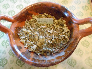 Herb Healing Incense organic herbal incense wicca, witchcraft, occult, pagan, healing spell
