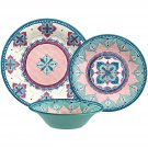Better Homes and Gardens 12-Piece Boho Dinnerware Set Multicolor