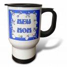 3dRose New Mom Gifts Blue Baby Boy, Travel Mug, 14oz, Stainless Steel