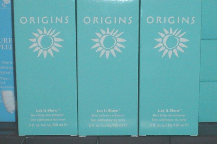 Wholesale Lot *5* Origins Let it Show Skin Bosy Enhanser