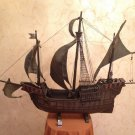 ANTIQUE wooden model of Christopher Columbus ship Santa Maria