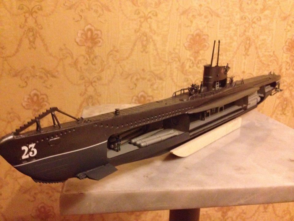1:125 German U boat 47 WW2 complete model with interior