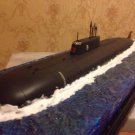 1:350 Russian Kursk Oscar class submarine complete model with diorama