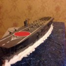 Japan Navy Kaga carrier class model 1:700 with diorama and wooden deck