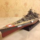 German Navy Battlecruiser ship Bismarck with wooden deck complete model 1:700