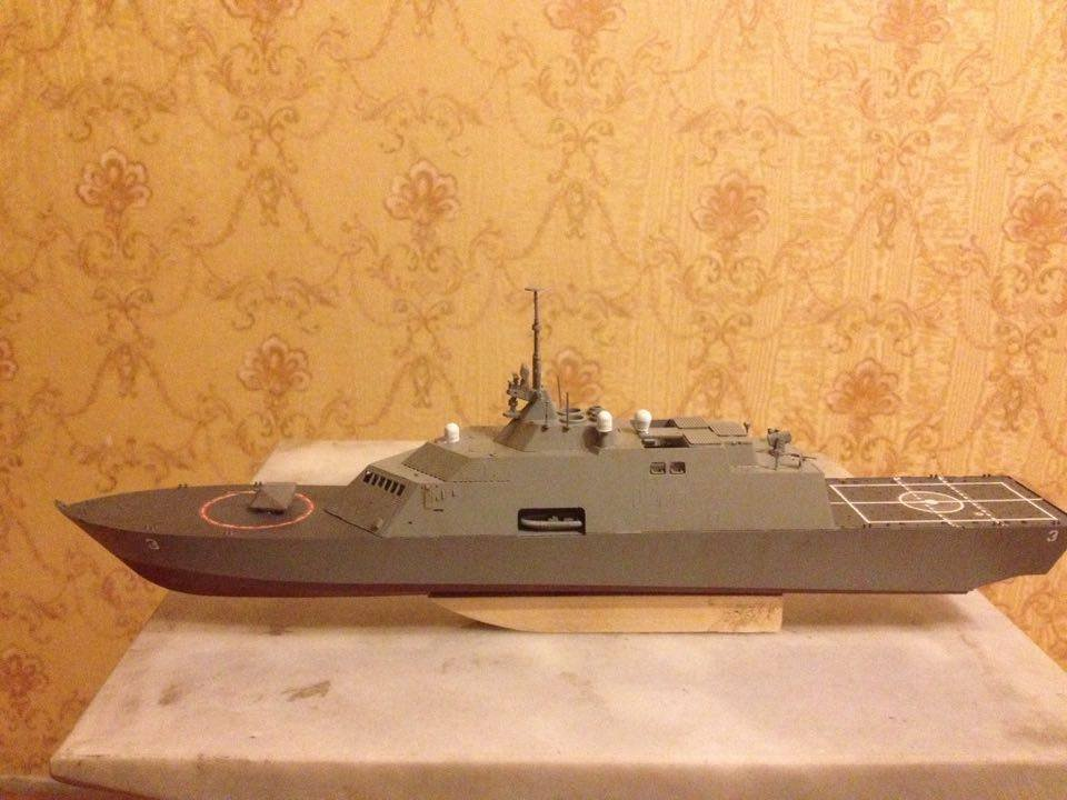 USS USS Fort Worth (LCS-3) ship 1:350 complete model