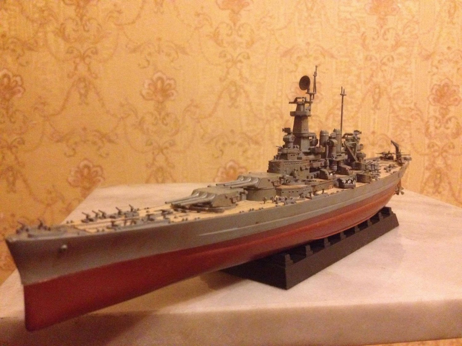 US Navy Battlecruiser ship North Carolina (BB-55) class complete model 1:700