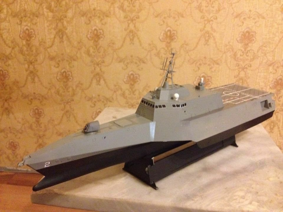 USS Independence-class littoral combat ship LCS 2 1:350 complete model