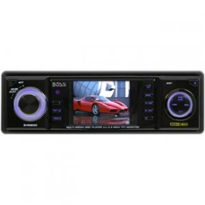 "Boss BV6850T Mobile DVD/MP3/CD Receiver with 2.5"" TFT Full Color Monitor With TV Tuner"