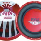 Pyle 12'' 2000 Watt Red Aluminum Cone Die-Cast Subwoofer