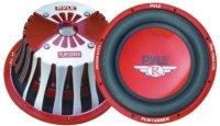 Pyle 12'' 2000 Watt Red Aluminum Cone Die-Cast Subwoofer